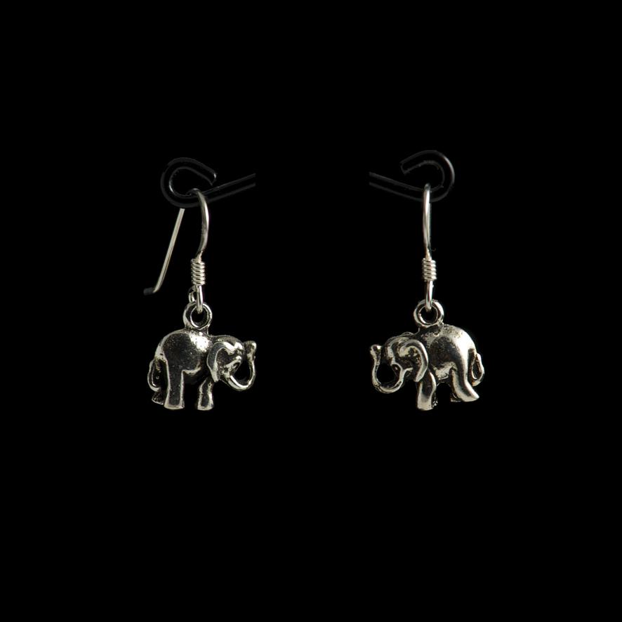 Boucles elephants, argent  20 euros
