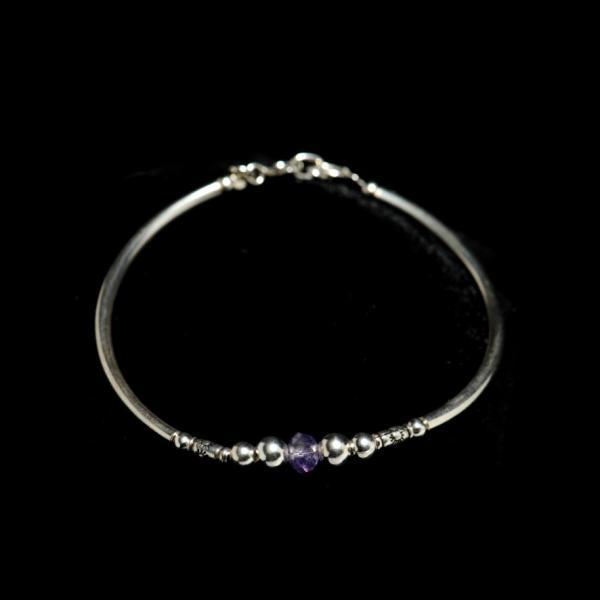 Bracelet argent perle amethyste 30 euros
