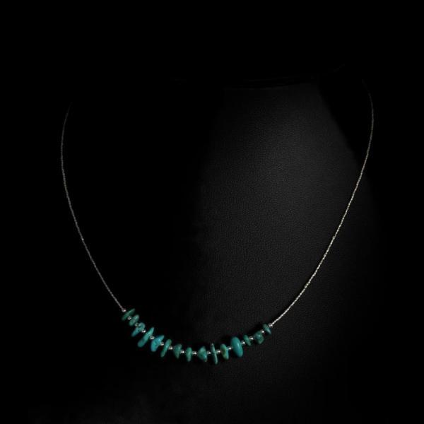Turquoise et petites perles, 35 euros