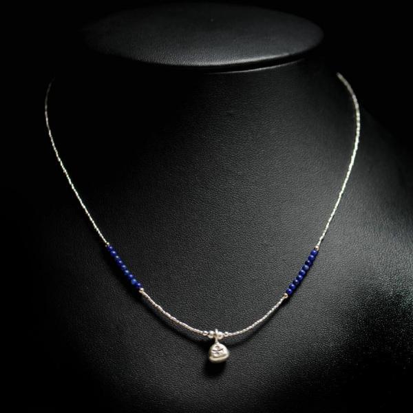 Lapis lazuli et perles argent, 35 euros